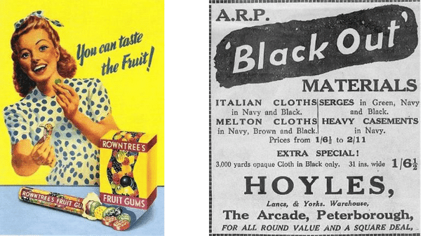 Old print advertisements examples