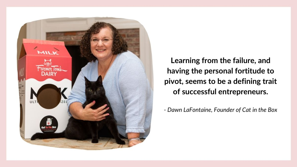 Headshot of Dawn Lafontaine , founder of Cat in the Box