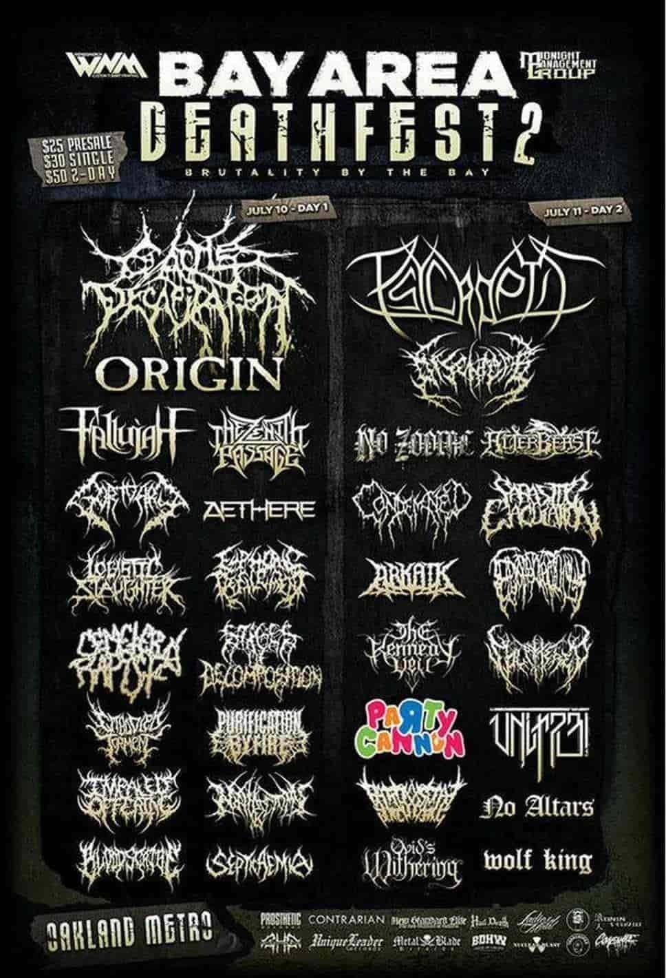 Bay Area Deathfest II lineup